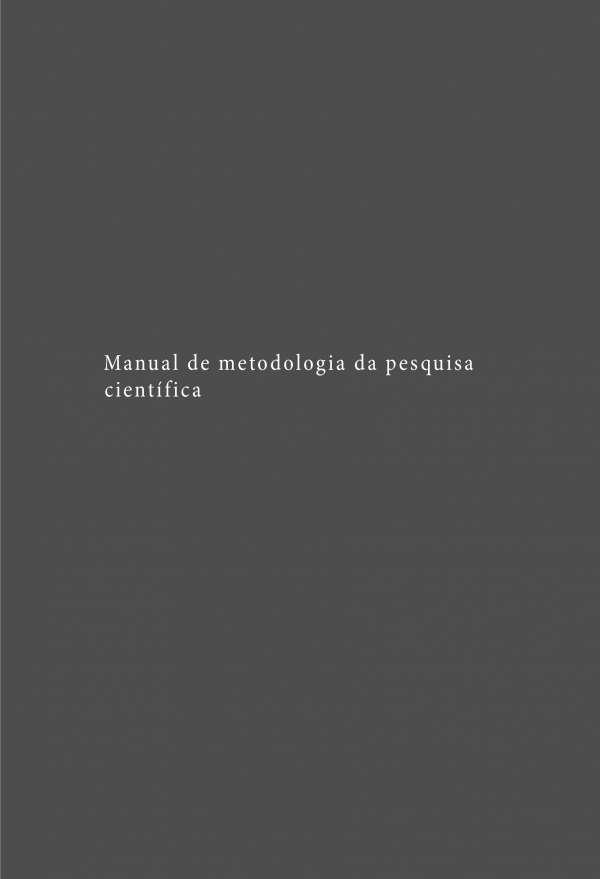 INTRODUÇÃO À METODOLOGIA DE INVESTIGAÇÃO CIENTÍFICA